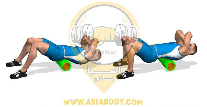 فوم رولرعضلات پایینی پشت
