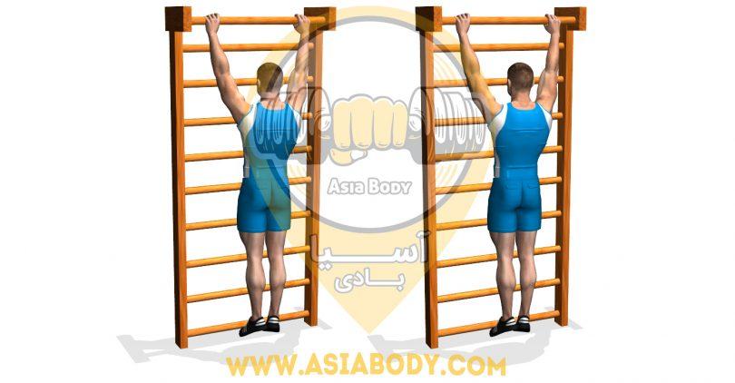 کشش عضلات پشت در حالت آویزان
