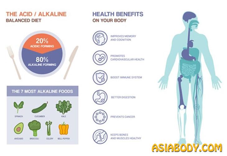 غذاهای اسیدی و قلیایی 1